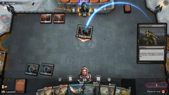 Voilà à quoi ressemble le jeu lors d'une partie - Magic Arena