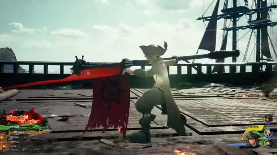 La Keyblade sous la forme Storm flag. - Kingdom Hearts 3