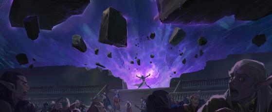 Azshara tentant vainement de protéger son peuple - World of Warcraft