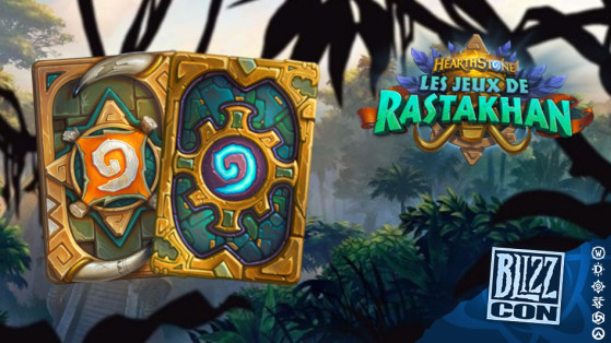 Hearthstone extension Les Jeux de Rastakhan : dos de cartes