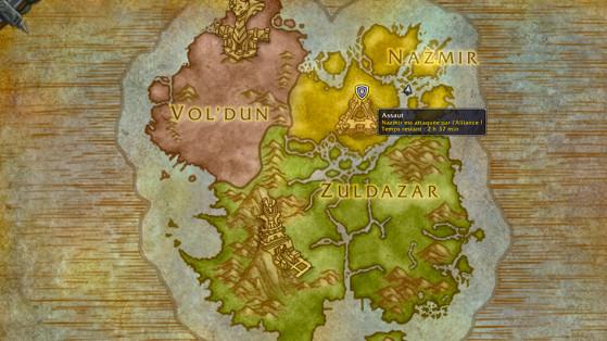 Un Assaut de l'Alliance est en cours en Nazmir - World of Warcraft