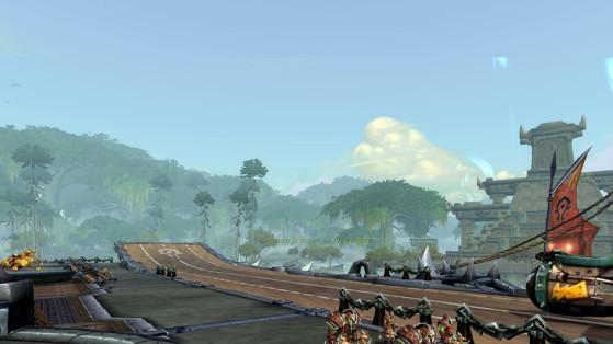 Sur le porte-fusées de la Horde en Nazmir - World of Warcraft