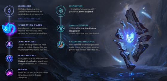 La branche secondaire Inspiration a la part belle dans beaucoup de builds... - League of Legends