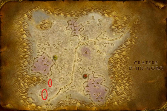 Localisations possibles de Solenor le Tueur - WoW : Classic