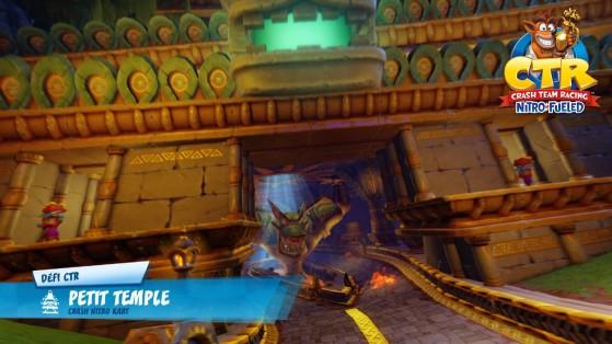Défi lettres CTR - Petit Temple : guide Crash Team Racing Nitro-Fueled