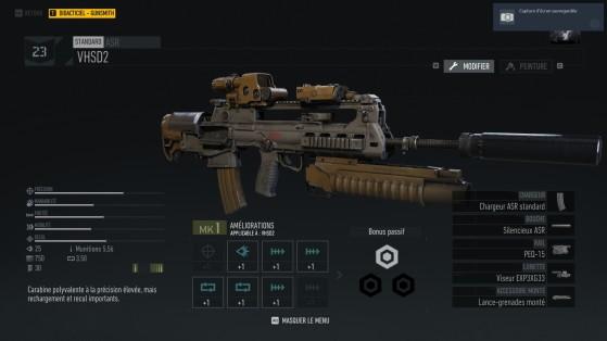 Le gunsmith est présent et vous pourrez personnaliser votre arme. - Ghost Recon Breakpoint