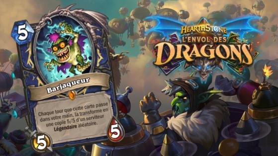 Hearthstone Envol des Dragons : nouveau serviteur légendaire Chaman Barjaqueur