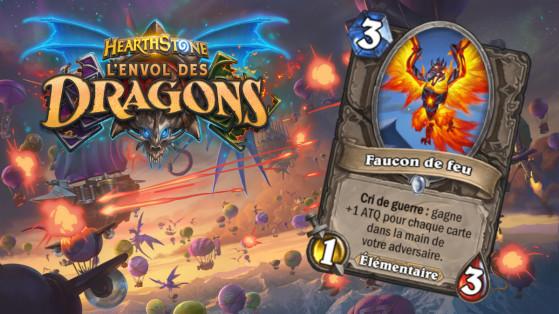 Hearthstone Envol des Dragons : nouveau serviteur commun Neutre Faucon de feu