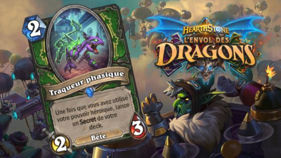 Hearthstone Envol des Dragons : nouvelle serviteur rare Chasseur Traqueur phasique