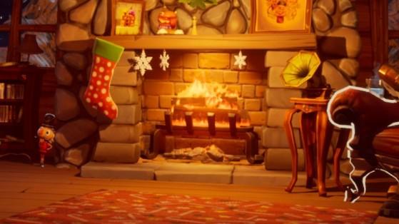 Fortnite : Se réchauffer près du feu de la cheminée du Chalet de la fête Hivernale, défi