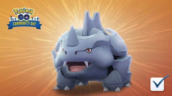 Pokemon GO Community Day : rhinocorne, février