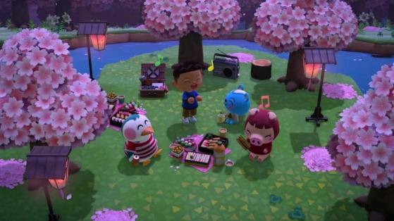 Pétales de Cerisiers et liste des meubles Sakura sur Animal Crossing New Horizons