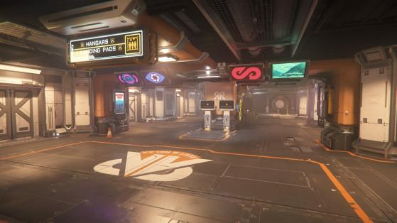 Le terminal d'accès aux vaisseaux - Star Citizen