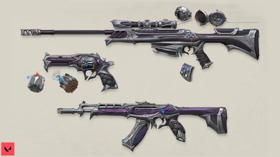Valorant : la création et l'univers des skins d'arme