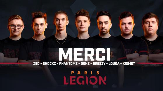 Call of Duty League 2021 : le renvoi total du roster des Paris Legion