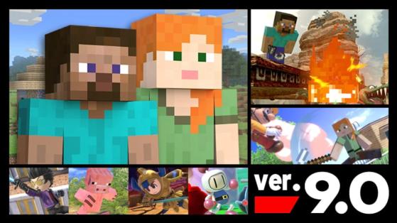 Le patch note 9.0.0 de Steve de Minecraft sur SSBU est disponible