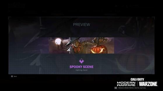 Carte de visite - Call of Duty Warzone