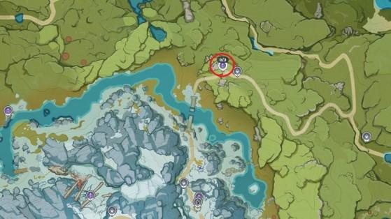 Emplacement d'Iris, lanceur de la quête - Genshin Impact