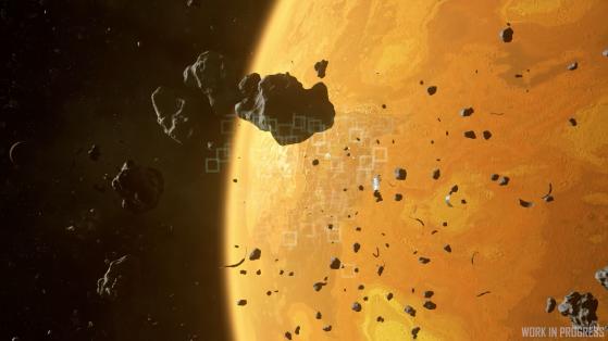 Des échos radars issus d'un ping - Star Citizen