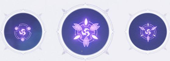 Symbole présent dans les barrières électriques - Genshin Impact