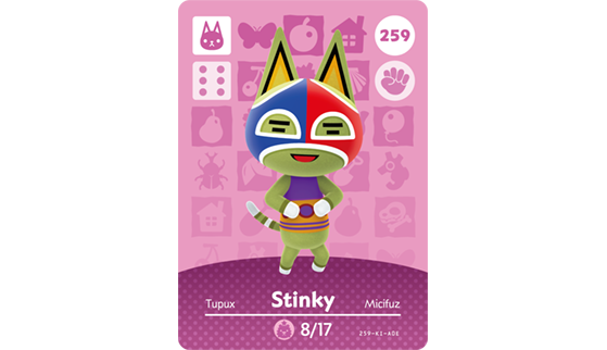Carte Amiibo de Tupux - Animal Crossing New Horizons