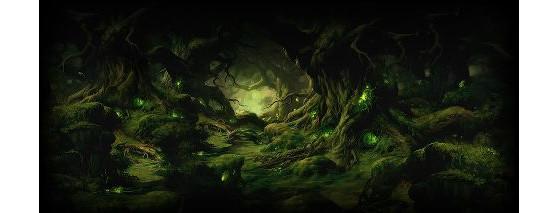 Une forêt mystérieuse sur facebook
