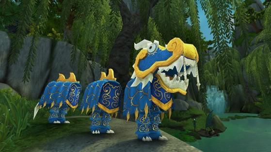 Le costume de dragon bleu dans son intégralité - World of Warcraft