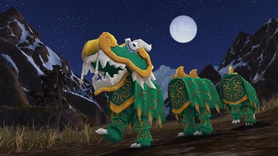 Le costume de dragon vert dans son intégralité - World of Warcraft