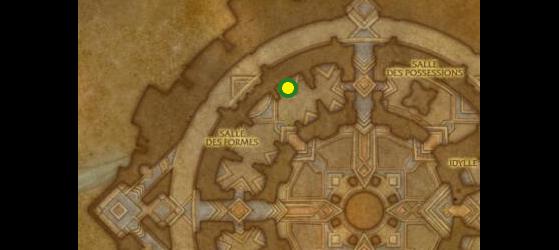 Emplacement du Tanneur Au'quil, maître des travailleurs du cuir à Oribos - World of Warcraft
