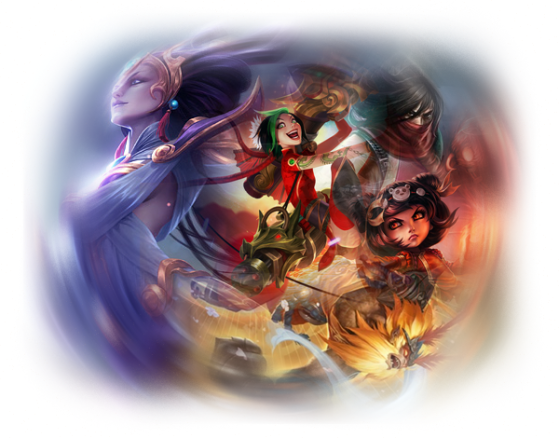 Wukong (2016), Jinx (2015), Diana (2014), Annie (2013) et Talon (2012) - League of Legends