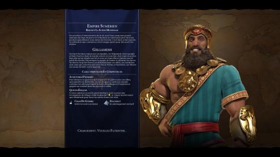 Gilgamesh : qui ne rêverait pas d'incarner un body builder 3/4 dieu, 1/4 meilleur ami ? - Civilization 6