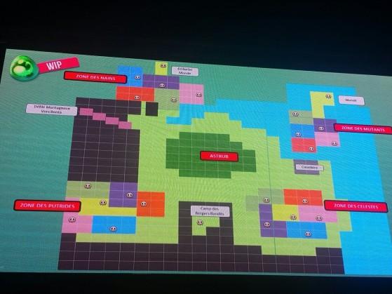 La carte du jeu en cours de développement - Dofus