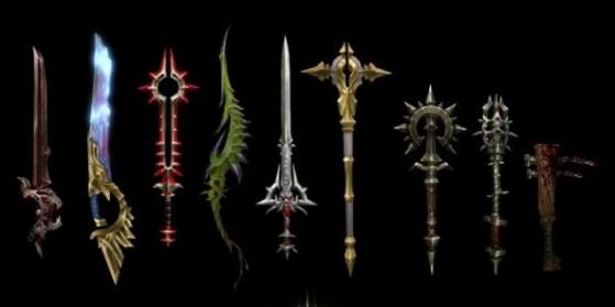 Armes légendaires, Legendary weapons