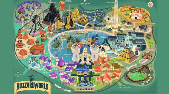 Carte du Blizzard World - Overwatch