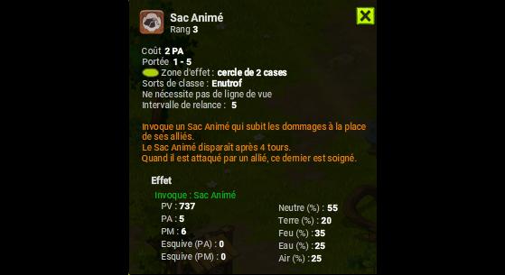 Sac Animé - Dofus
