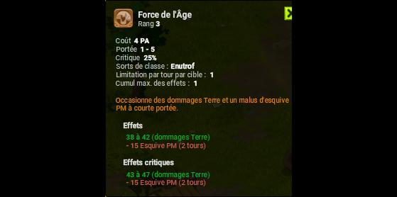 Force de l'Age - Dofus