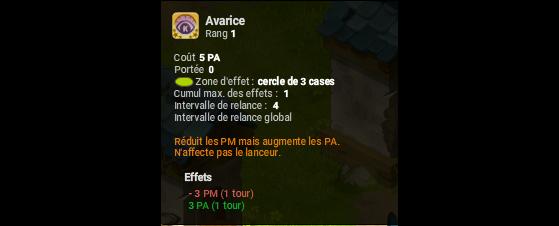 Avarice - Dofus