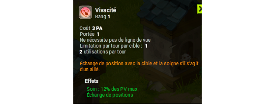 Vivacité - Dofus