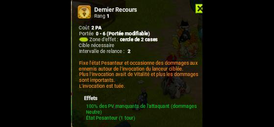 Derniers Recours - Dofus