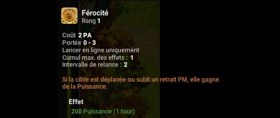 Férocité - Dofus