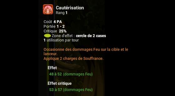 Cautérisation - Dofus