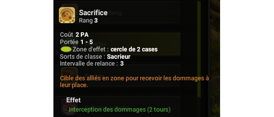 Sacrifice - Dofus