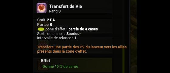 Transfert de Vie - Dofus