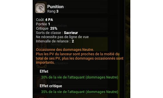 Punition - Dofus