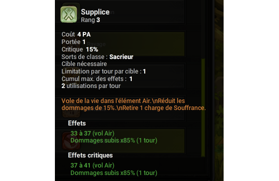 Supplice - Dofus