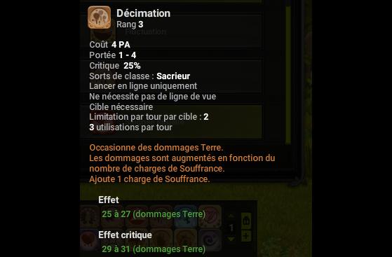 Décimation - Dofus