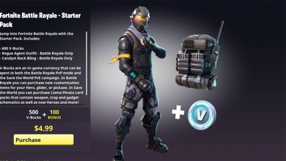 Fortnite : nouveau pack, pack de départ, skin halo