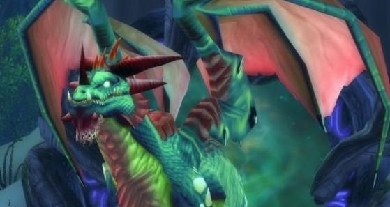 Un Dragon d'Emeraude, protecteur du portail vers le Rêve - Hearthstone