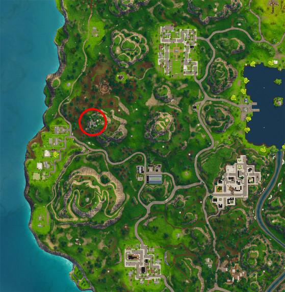 Pour ceux qui ne savent pas où se trouve la base secrète. - Fortnite : Battle royale