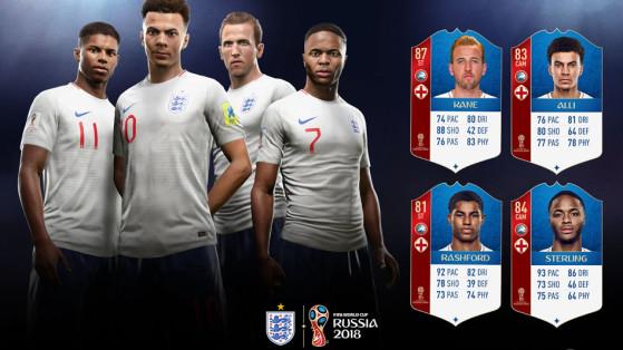 FIFA 18 Coupe du monde : l'Angleterre